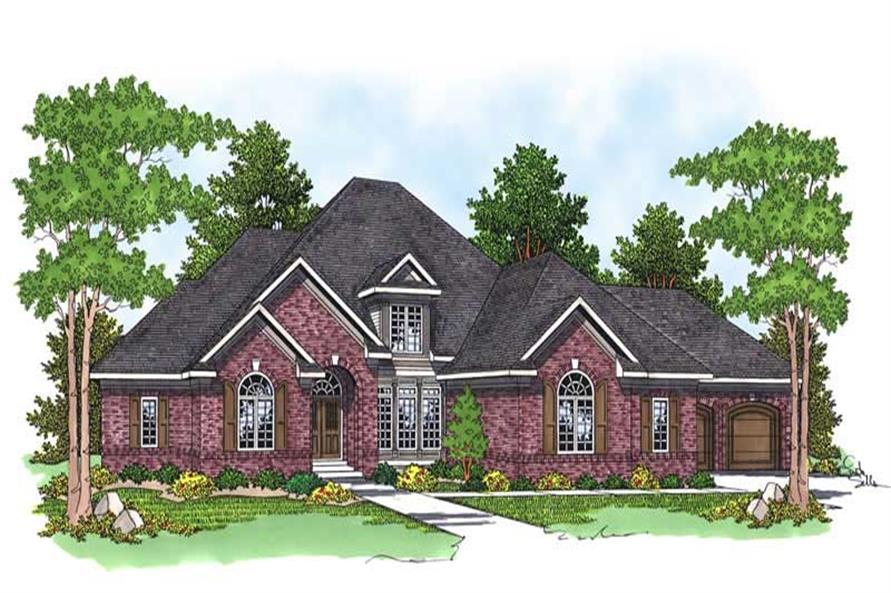 3-Bedroom, 3608 Sq Ft European Home Plan - 101-1225 - Main Exterior