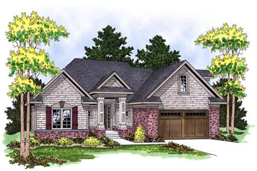 Home Plan Rendering of this 4-Bedroom,3014 Sq Ft Plan -101-1227