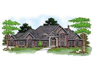 Luxury Homeplans AM-69301 color rendering.