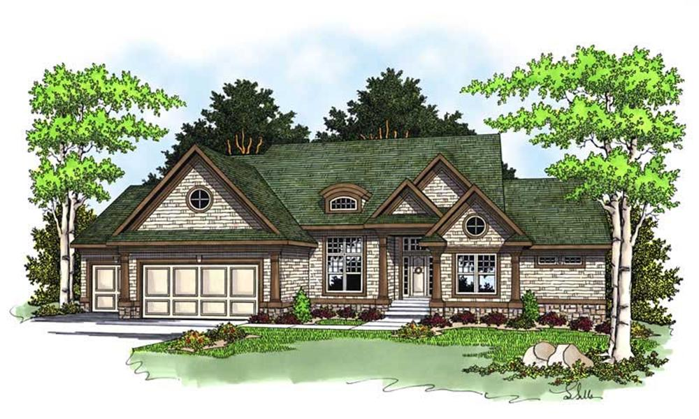 Front elevation of Traditional home (ThePlanCollection: House Plan #101-1229)