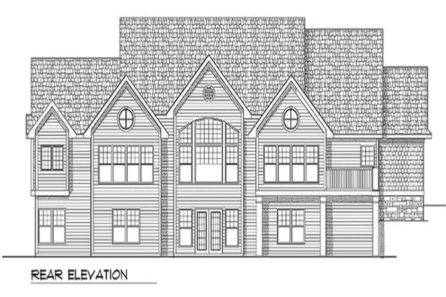 Home Plan Rear Elevation of this 3-Bedroom,2269 Sq Ft Plan -101-1229