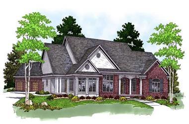 4-Bedroom, 5640 Sq Ft Ranch Home Plan - 101-1230 - Main Exterior