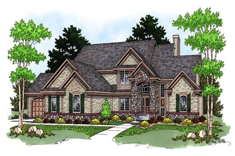 3-Bedroom, 2677 Sq Ft Country Home Plan - 101-1234 - Main Exterior