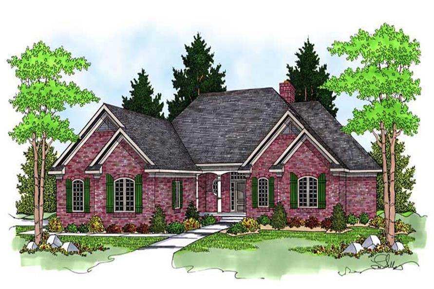 3-Bedroom, 4303 Sq Ft Ranch Home Plan - 101-1235 - Main Exterior