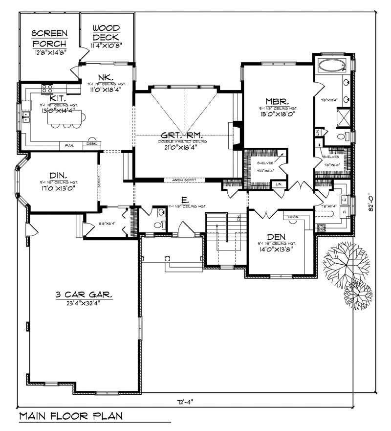 House Design 101: Ranch Home With 3 Bdrms, 4303 Sq Ft