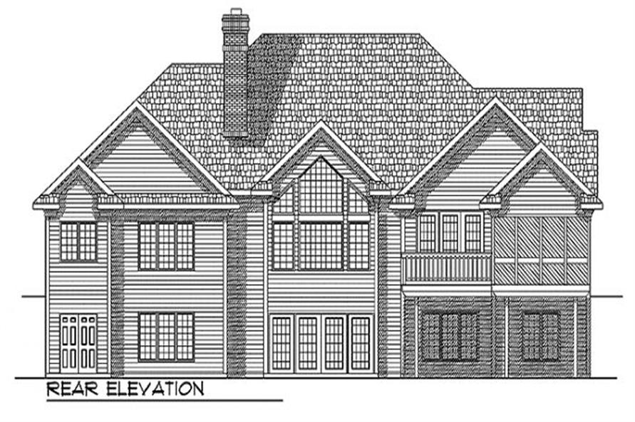 Home Plan Rear Elevation of this 3-Bedroom,4303 Sq Ft Plan -101-1235