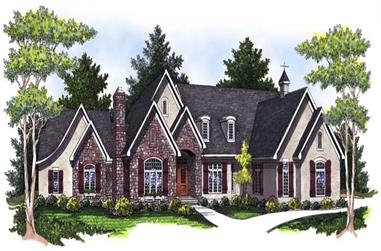 4-Bedroom, 6223 Sq Ft French House Plan - 101-1236 - Front Exterior