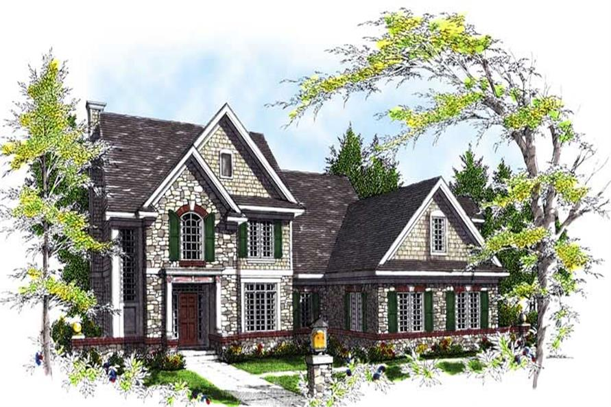 3-Bedroom, 2800 Sq Ft Colonial House Plan - 101-1237 - Front Exterior