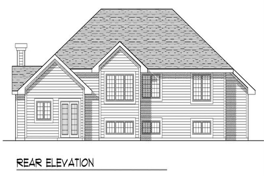 Home Plan Rear Elevation of this 3-Bedroom,1894 Sq Ft Plan -101-1240