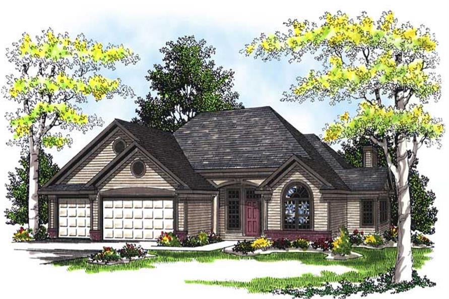 Home Plan Rendering of this 3-Bedroom,1894 Sq Ft Plan -101-1240