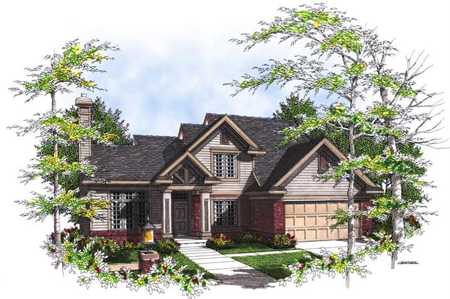 Home Plan Rendering of this 4-Bedroom,2044 Sq Ft Plan -101-1243