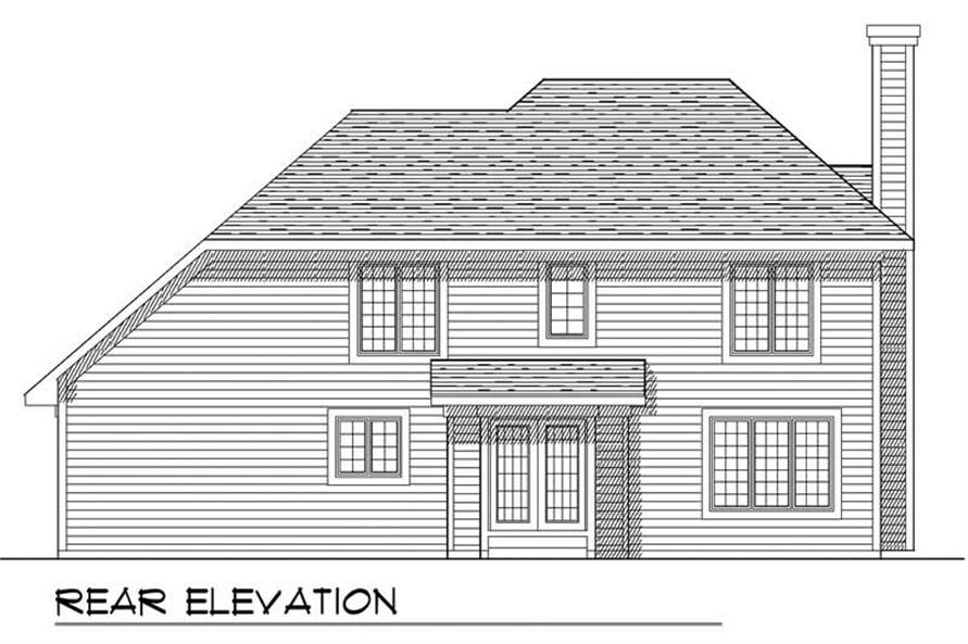 Home Plan Rear Elevation of this 3-Bedroom,1679 Sq Ft Plan -101-1245