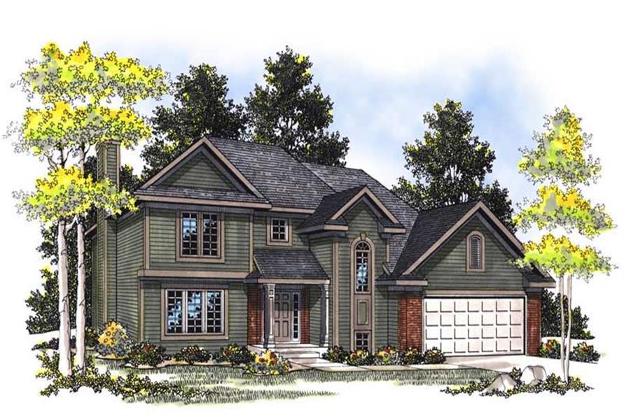 3-Bedroom, 1679 Sq Ft Craftsman Home Plan - 101-1245 - Main Exterior