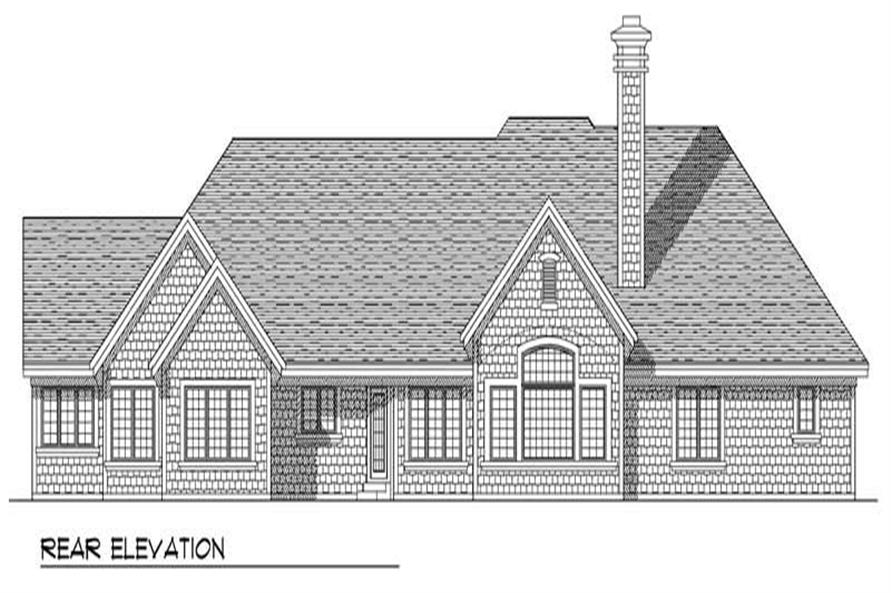 Home Plan Rear Elevation of this 3-Bedroom,2991 Sq Ft Plan -101-1246