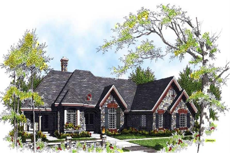 FRONT ELEVATION of this 3-Bedroom,2991 Sq Ft Plan -2991