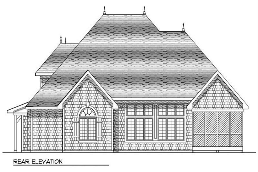 Home Plan Rear Elevation of this 3-Bedroom,2396 Sq Ft Plan -101-1247