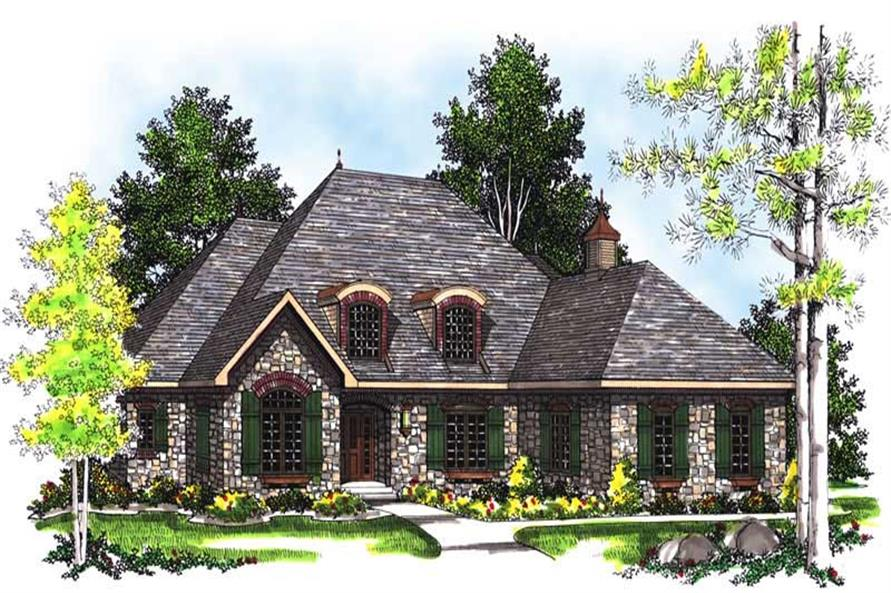 3-Bedroom, 2396 Sq Ft Country Home Plan - 101-1247 - Main Exterior
