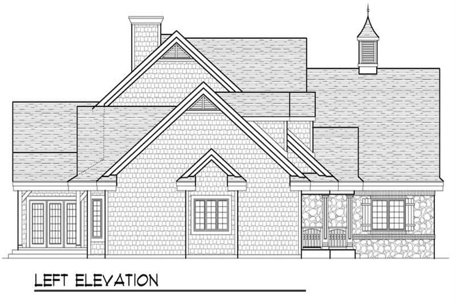Home Plan Left Elevation of this 4-Bedroom,2994 Sq Ft Plan -101-1248