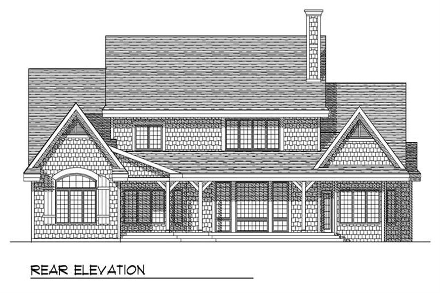 Home Plan Rear Elevation of this 4-Bedroom,2994 Sq Ft Plan -101-1248