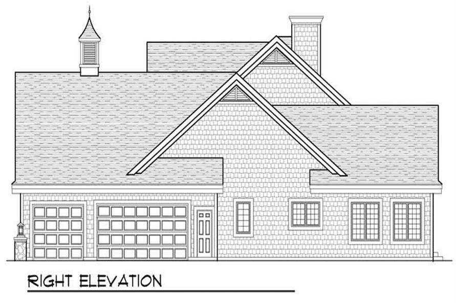 Home Plan Right Elevation of this 4-Bedroom,2994 Sq Ft Plan -101-1248