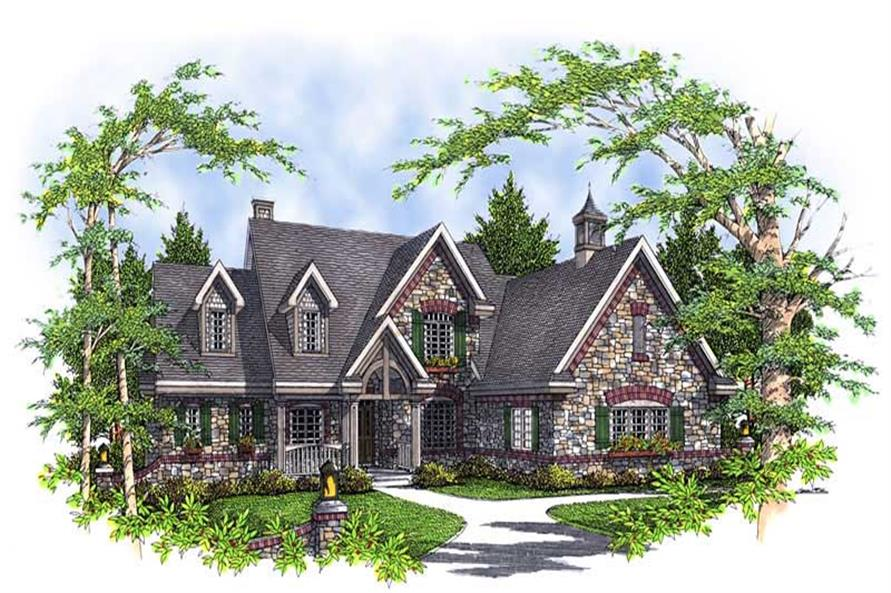 4-Bedroom, 2994 Sq Ft European House Plan - 101-1248 - Front Exterior