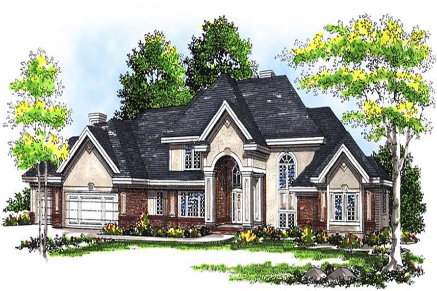 4-Bedroom, 4255 Sq Ft European House Plan - 101-1249 - Front Exterior