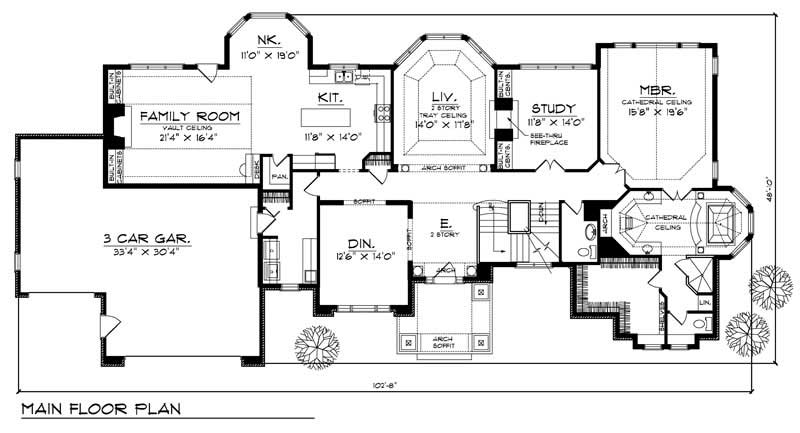 European Home With 4 Bdrms 4255 Sq Ft House Plan 101 1249