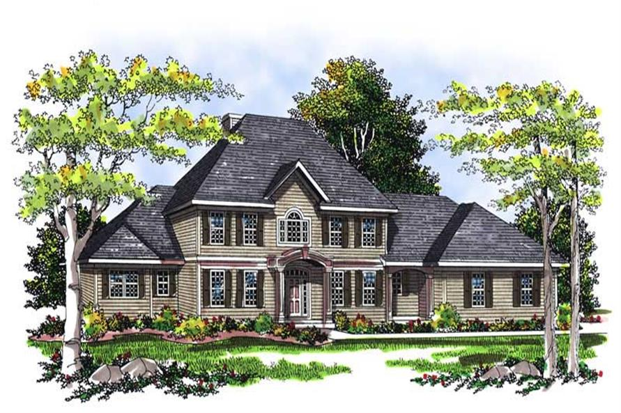 4-Bedroom, 2736 Sq Ft Country Home Plan - 101-1252 - Main Exterior