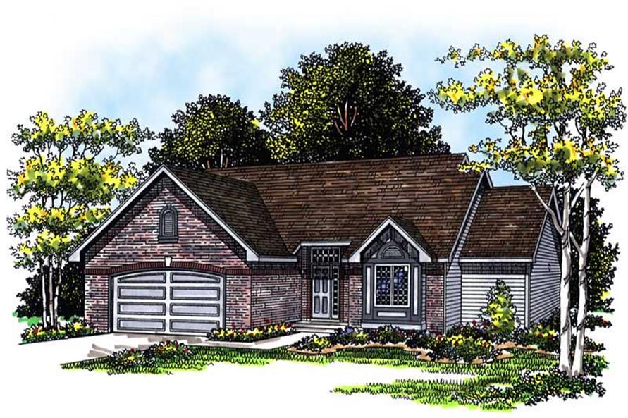 3-Bedroom, 1632 Sq Ft Ranch House Plan - 101-1254 - Front Exterior