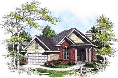 4-Bedroom, 2184 Sq Ft Ranch House Plan - 101-1255 - Front Exterior