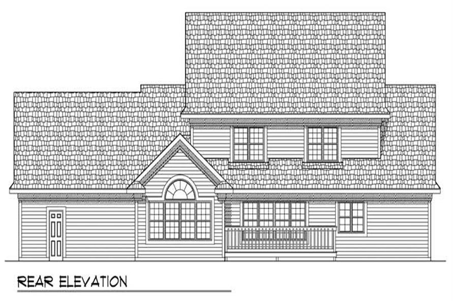 Home Plan Rear Elevation of this 5-Bedroom,3358 Sq Ft Plan -101-1257