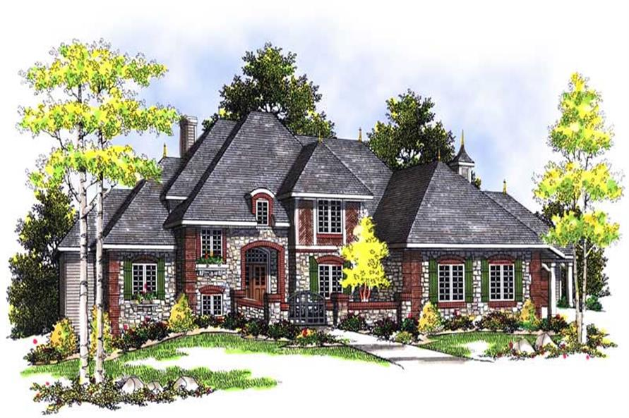 FRONT ELEVATION of this 4-Bedroom,3109 Sq Ft Plan -3109