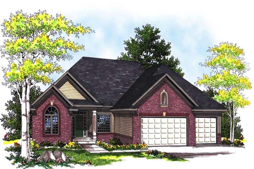 Home Plan Rendering of this 2-Bedroom,1940 Sq Ft Plan -101-1264