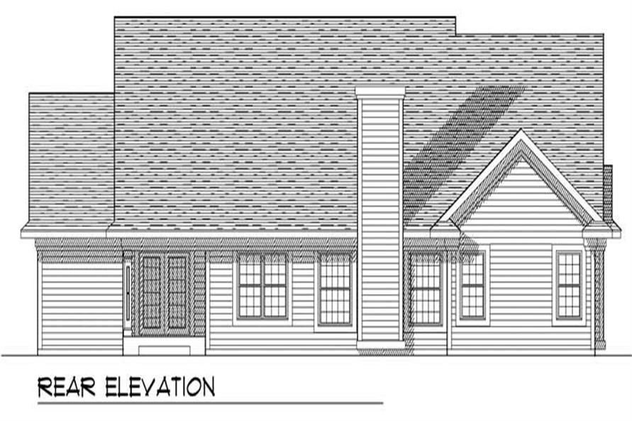 Home Plan Rear Elevation of this 3-Bedroom,1907 Sq Ft Plan -101-1265