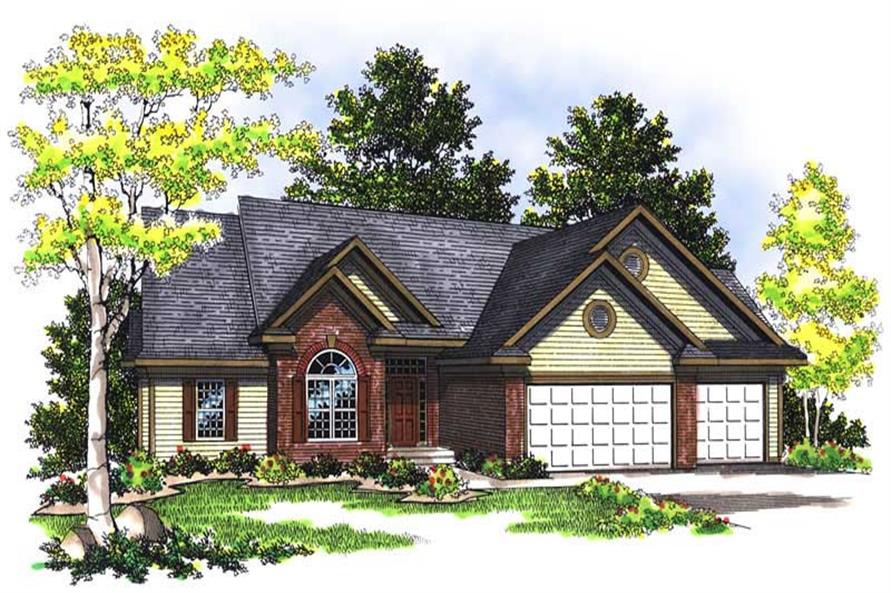 3-Bedroom, 1907 Sq Ft Ranch House Plan - 101-1265 - Front Exterior