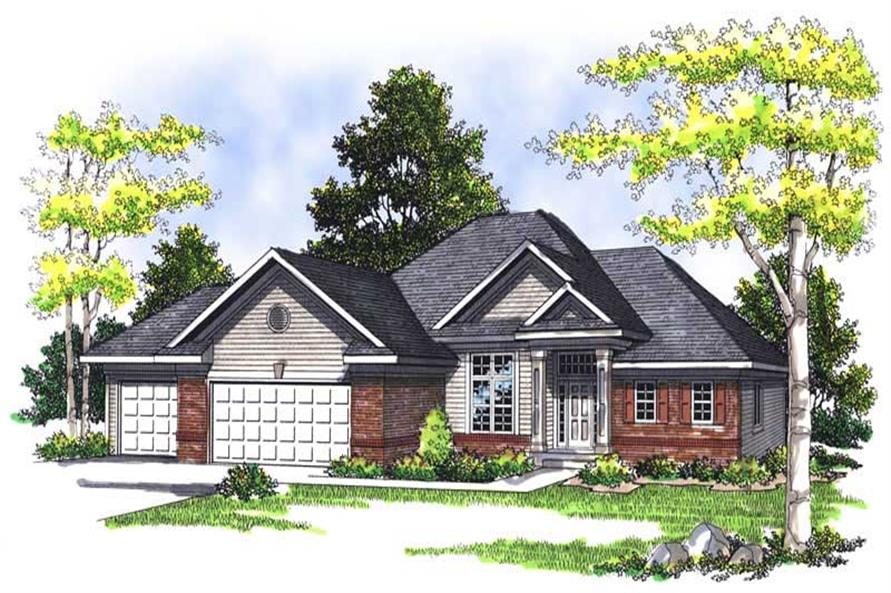 3-Bedroom, 2731 Sq Ft Craftsman House Plan - 101-1267 - Front Exterior