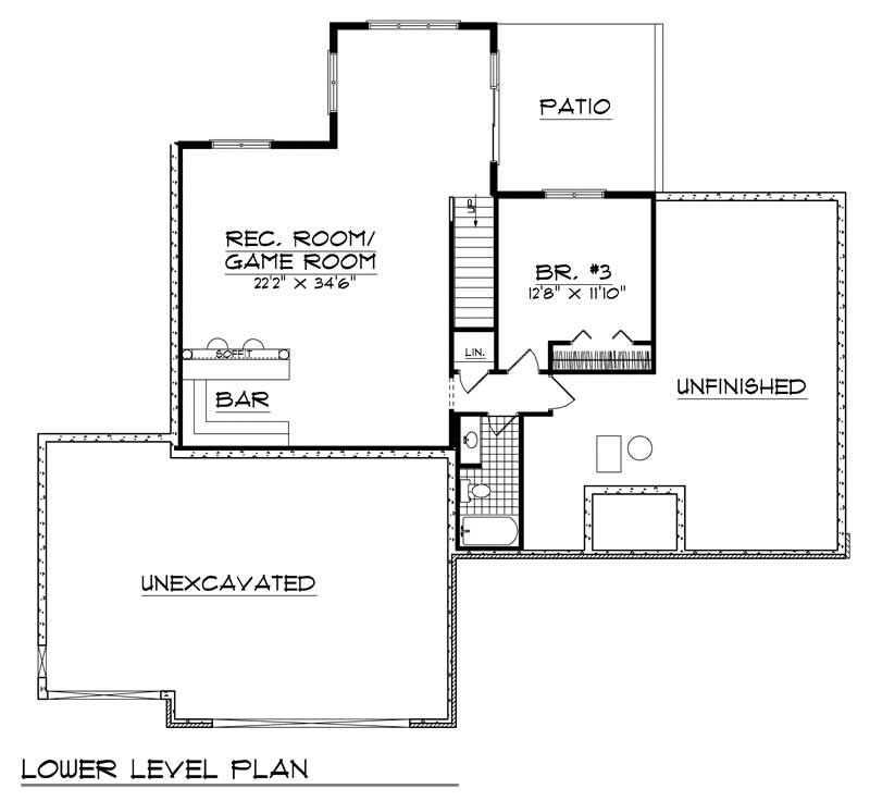 craftsman home with 3 bdrms 2731 sq ft house plan 101 1267