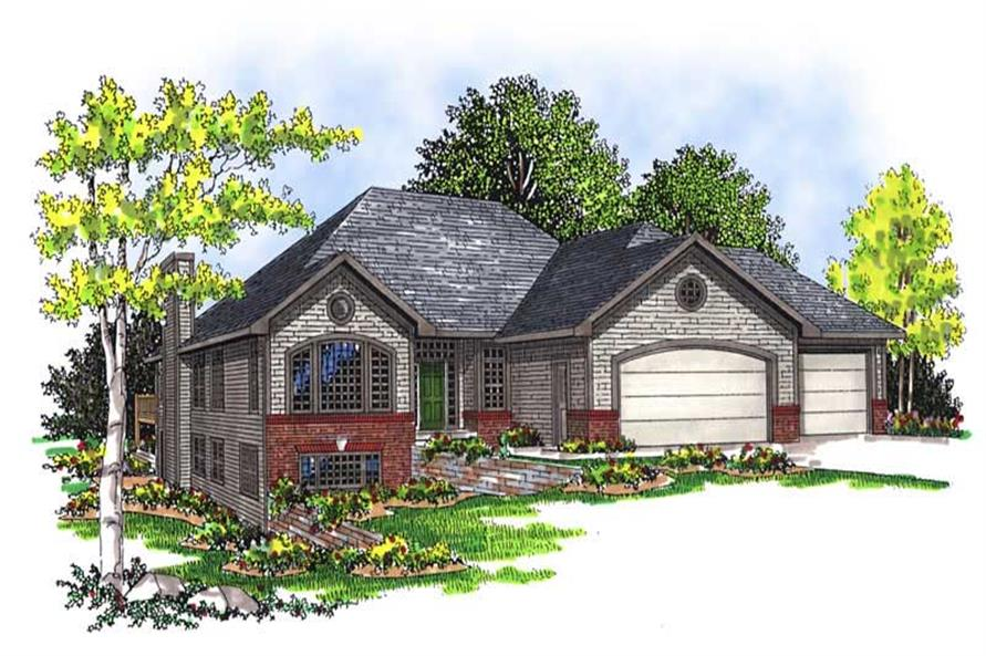 4-Bedroom, 3130 Sq Ft Country Home Plan - 101-1270 - Main Exterior
