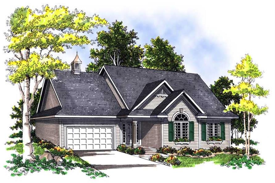 3-Bedroom, 1600 Sq Ft Ranch Home Plan - 101-1271 - Main Exterior
