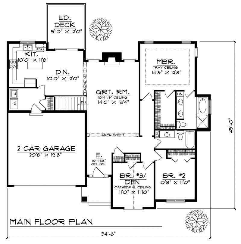 Ranch home with 3 bdrms 1600 sq ft house plan 101 1271 for 1600 sq foot house plans