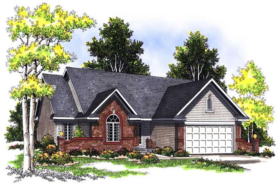 3-Bedroom, 1763 Sq Ft Ranch Home Plan - 101-1272 - Main Exterior