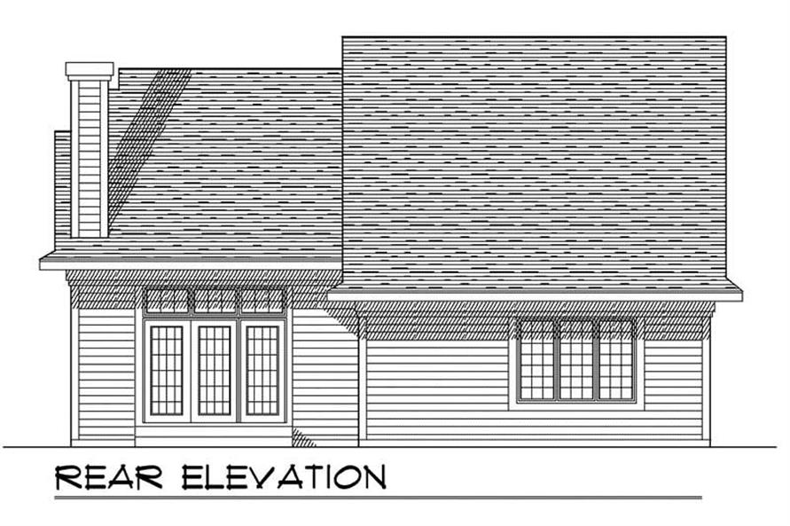 Home Plan Rear Elevation of this 3-Bedroom,1557 Sq Ft Plan -101-1273