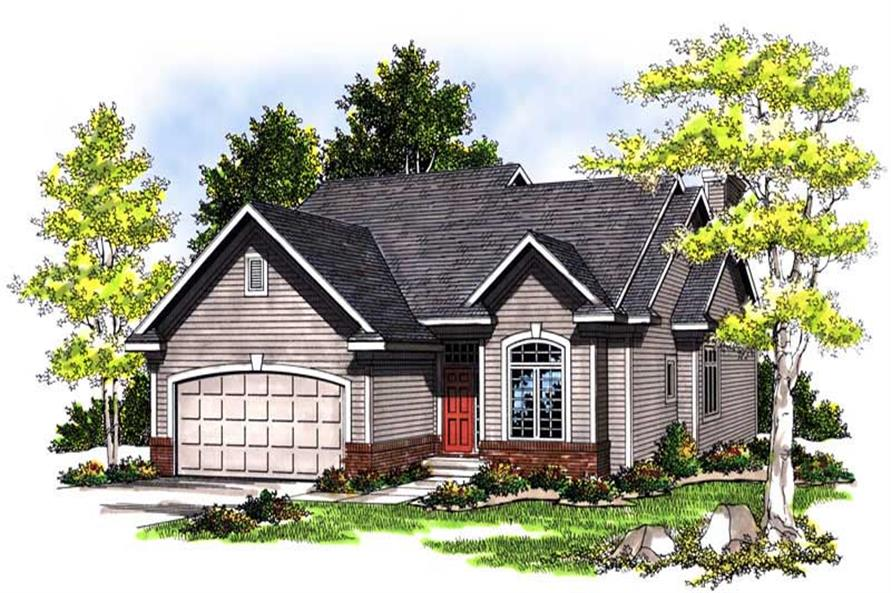 3-Bedroom, 1557 Sq Ft Bungalow Home Plan - 101-1273 - Main Exterior