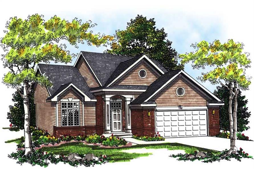 3-Bedroom, 1873 Sq Ft Ranch Home Plan - 101-1274 - Main Exterior