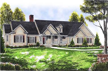 4-Bedroom, 2378 Sq Ft Ranch House Plan - 101-1276 - Front Exterior