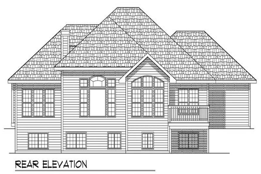 Home Plan Rear Elevations