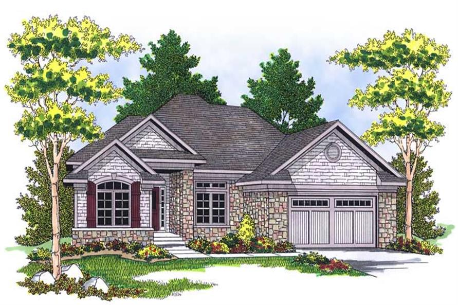 4-Bedroom, 2809 Sq Ft Country Home Plan - 101-1279 - Main Exterior
