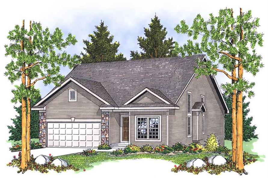 3-Bedroom, 2522 Sq Ft Ranch Home Plan - 101-1281 - Main Exterior
