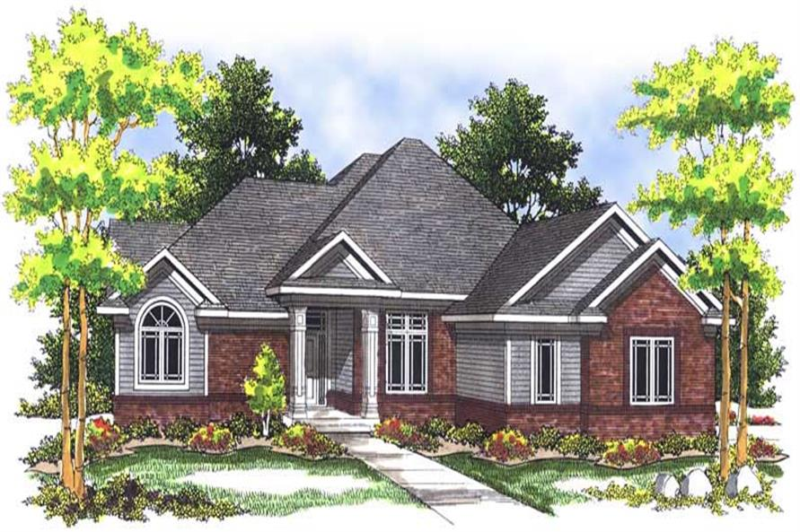 4-Bedroom, 3214 Sq Ft Country House Plan - 101-1283 - Front Exterior
