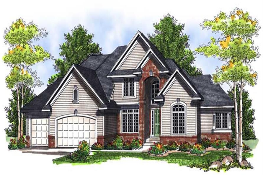 3-Bedroom, 2911 Sq Ft French Home Plan - 101-1284 - Main Exterior